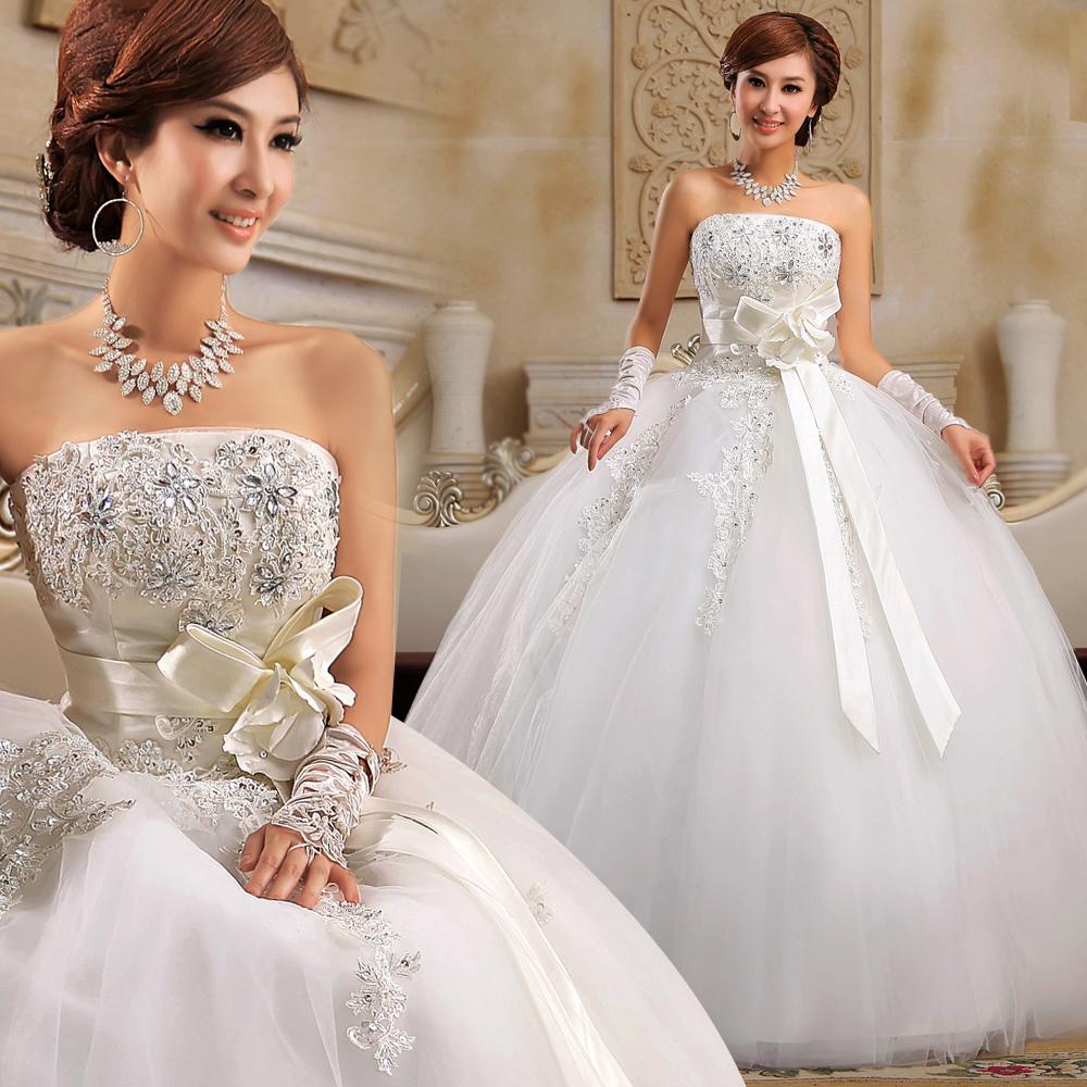 Пышное свадебное платье с расшитым корсетом и баской. Тренды и направления в Свадебной моде 2014-2015