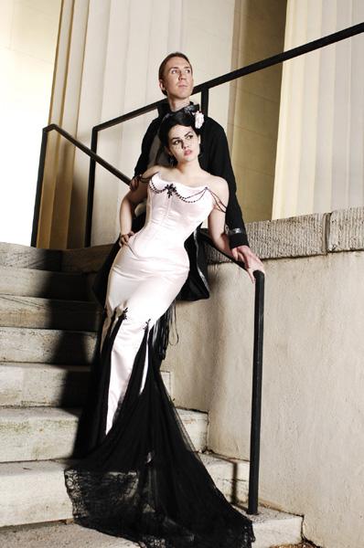 Платье с эффектным сочетанием материалов. Тренды и направления в Свадебной моде 2014-2015