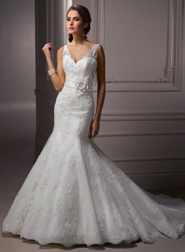 Свадебное платье в стилеРусалка с кружевами. Тренды и направления в Свадебной моде 2014-2015