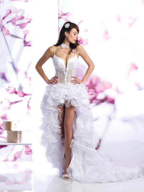 Свадебное платье с эффектным сочетанием материалов. Тренды и направления в Свадебной моде 2014-2015