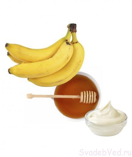 рецепт Медово-Банановая Маска Для Волос