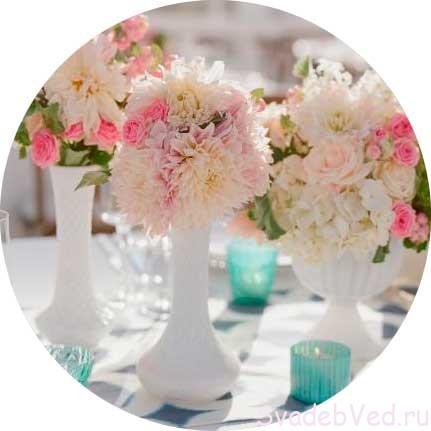 Свадебное оформление цветами в Августе