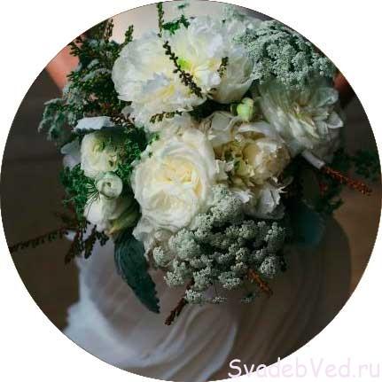 Свадебный букет в Январе